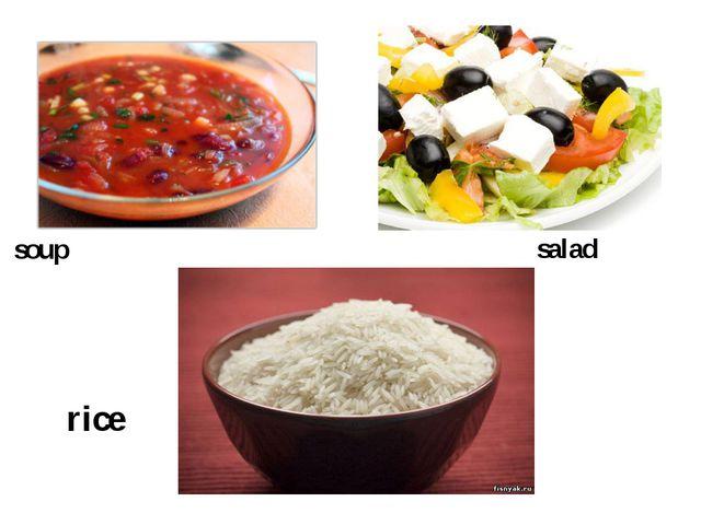 soup salad rice