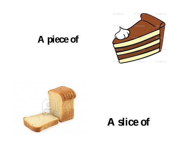 A piece of A slice of