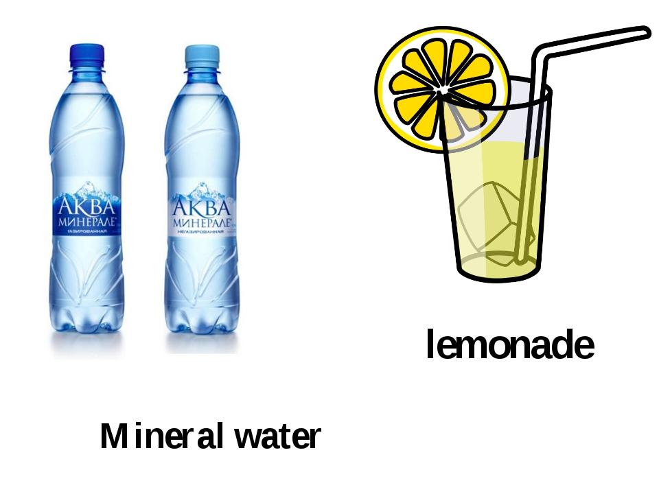 Mineral water lemonade