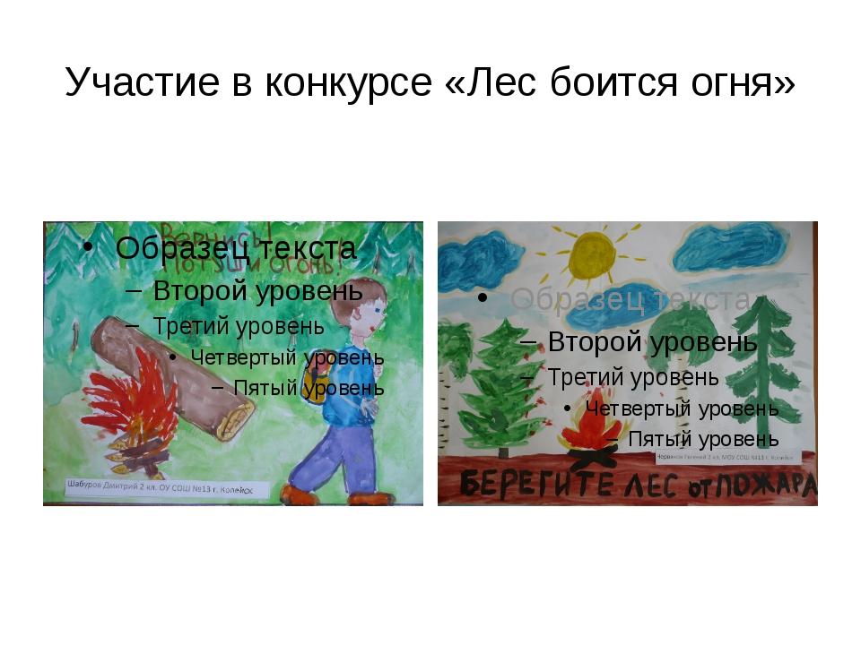Участие в конкурсе «Лес боится огня»