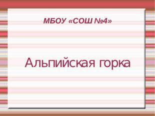 МБОУ «СОШ №4» Альпийская горка