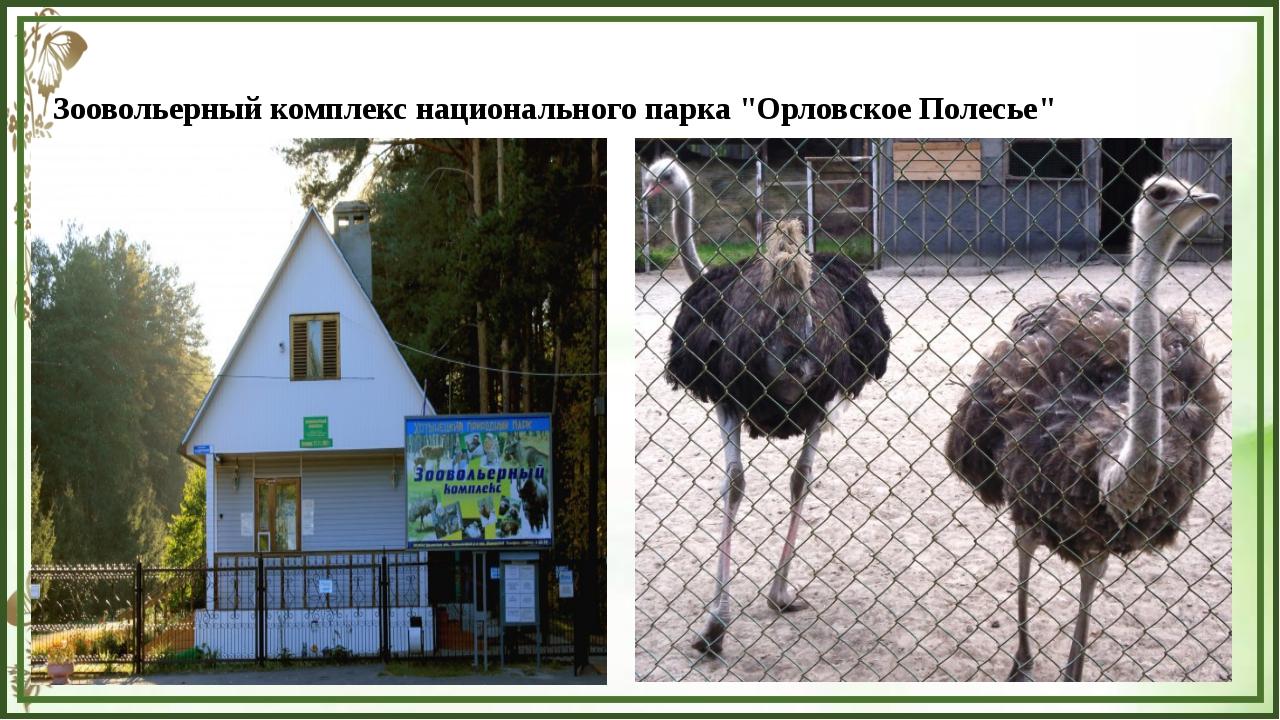 """Зоовольерный комплекс национального парка """"Орловское Полесье"""""""