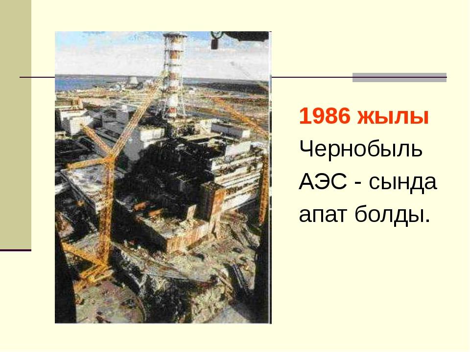 1986 жылы Чернобыль АЭС - сында апат болды.