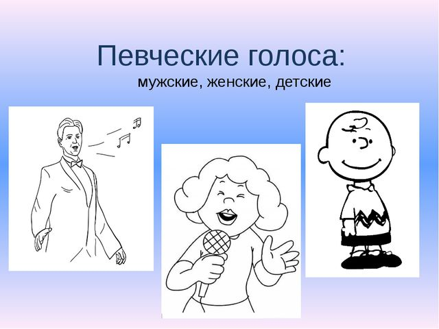 Певческие голоса: мужские, женские, детские