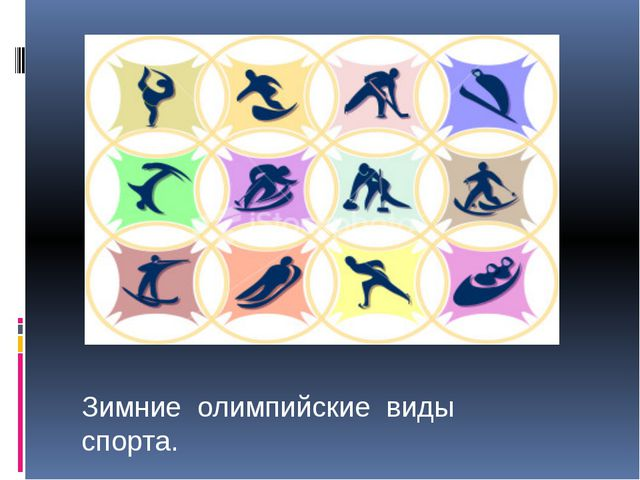 Зимние олимпийские виды спорта.