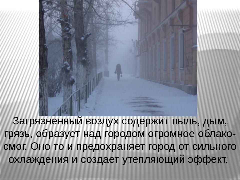 Загрязненный воздух содержит пыль, дым, грязь, образует над городом огромное...
