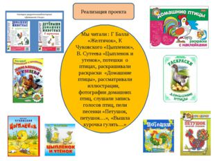 Мы читали : Г Балла «Желтячок», К Чуковского «Цыпленок», В. Сутеева «Цыпленок