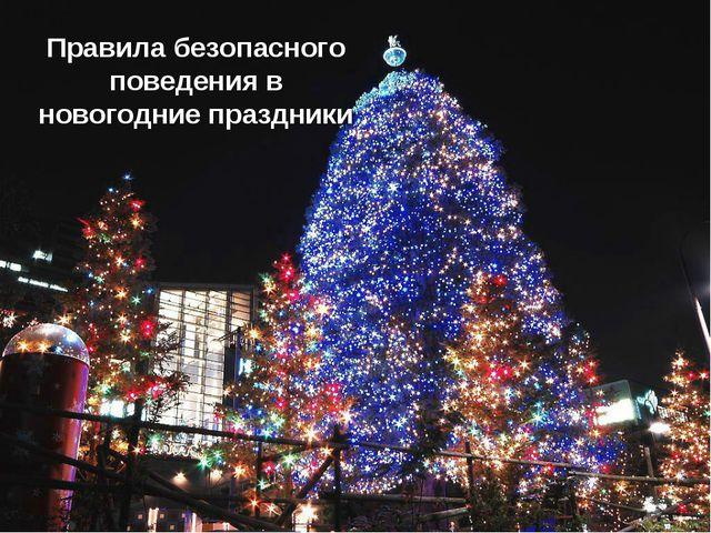 Правила безопасного поведения в новогодние праздники