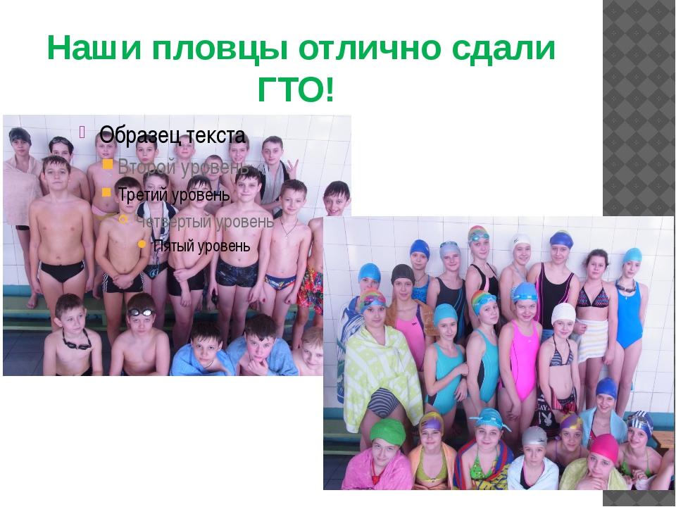 Наши пловцы отлично сдали ГТО!