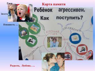 Гнев … Злость … Ненависть … Карта памяти Радость, Любовь…..