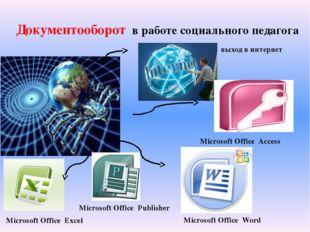 Документооборот в работе социального педагога выход в интернет Microsoft Offi