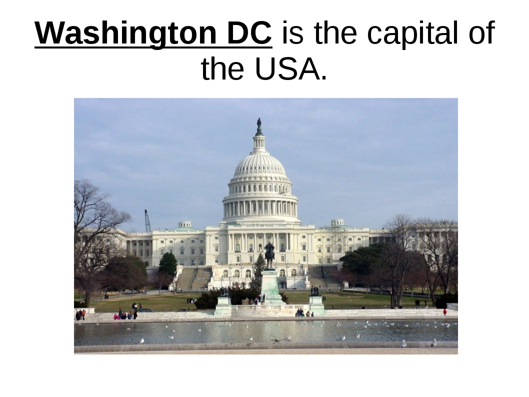Washington DC is the capital of the USA.