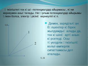 Өткізгіштегі ток күші –потенциалдар айырмасы , яғни кернеумен анықталады. Не