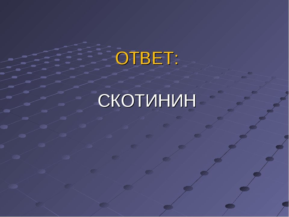 ОТВЕТ: СКОТИНИН