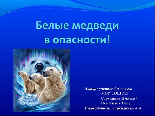 Автор: ученики 4А класса МОУ СОШ №3 Струняшев Дмитрий, Исмагилов Тимур Руково...