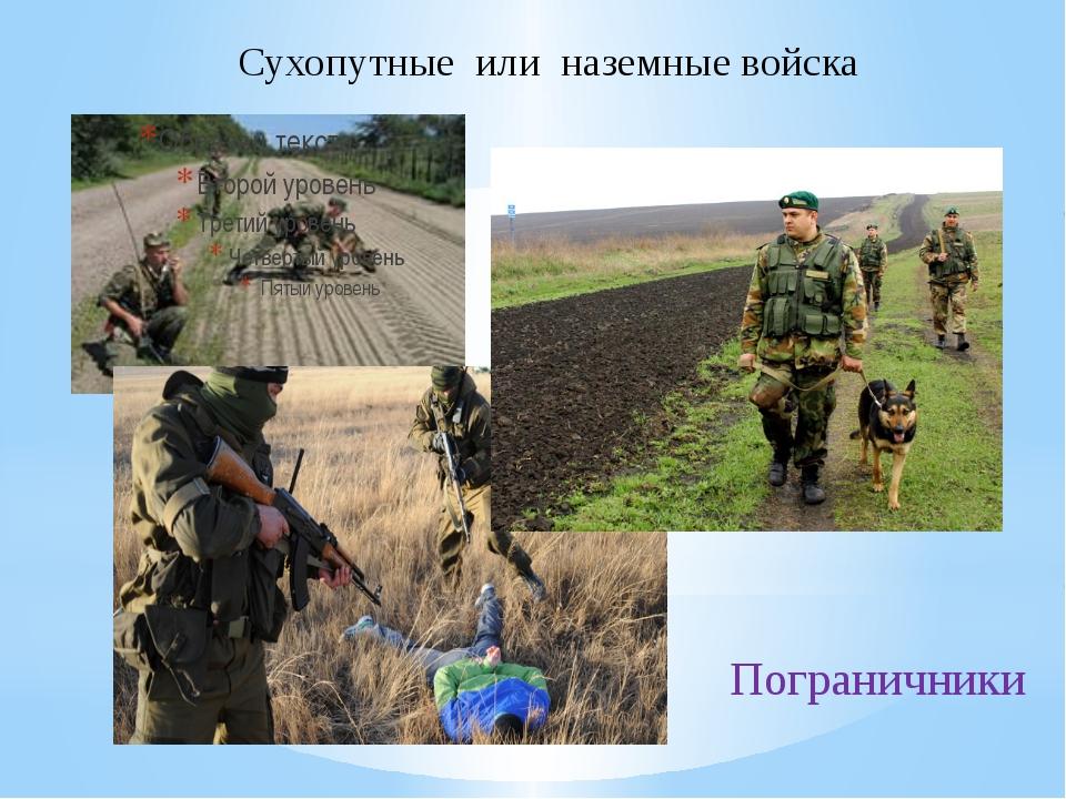 Сухопутные или наземные войска Пограничники