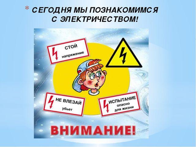 СЕГОДНЯ МЫ ПОЗНАКОМИМСЯ С ЭЛЕКТРИЧЕСТВОМ!