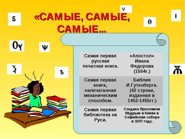 V «САМЫЕ, САМЫЕ, САМЫЕ... Самая первая русская печатная книга.«Апостол» Ива...
