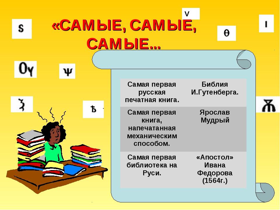 V «САМЫЕ, САМЫЕ, САМЫЕ... Самая первая русская печатная книга.Библия И.Гуте...