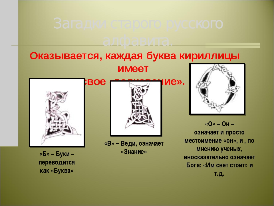 Загадки старого русского алфавита. Оказывается, каждая буква кириллицы имеет...