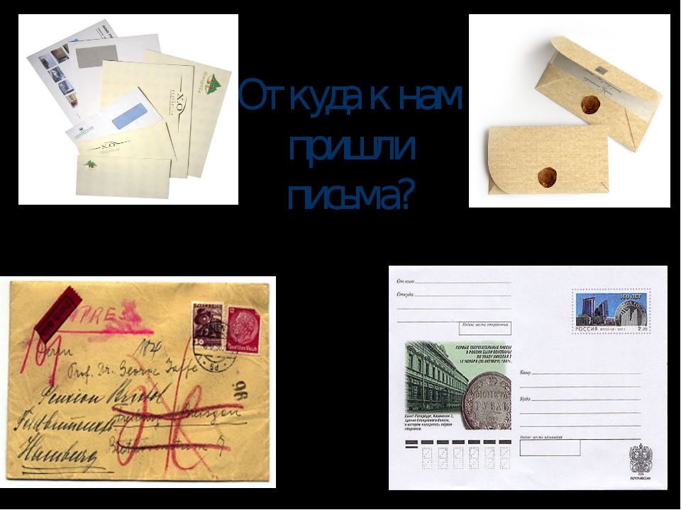 Откуда к нам пришли письма?