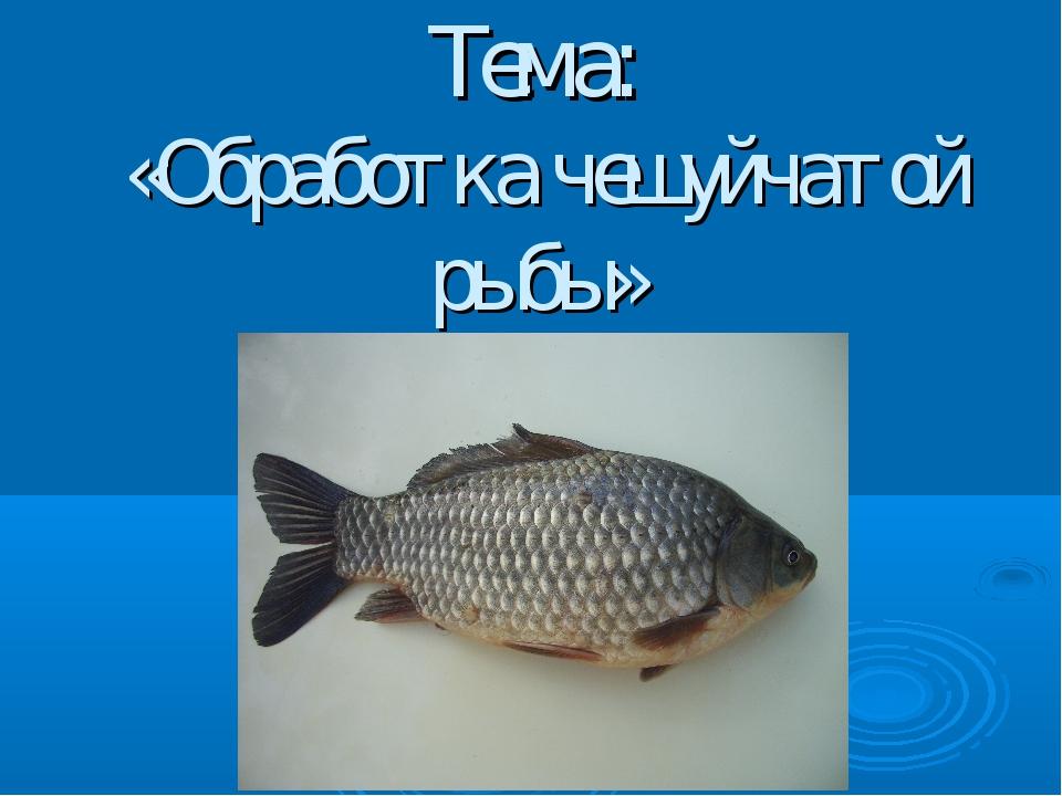 Тема: «Обработка чешуйчатой рыбы»