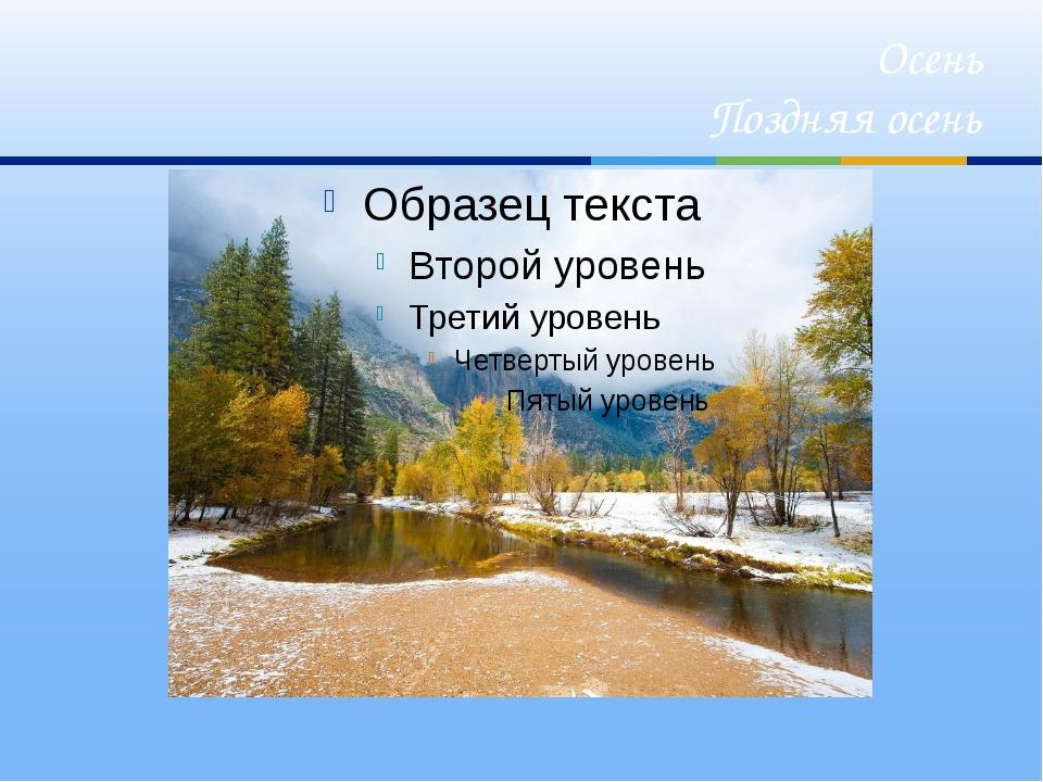 Осень Поздняя осень