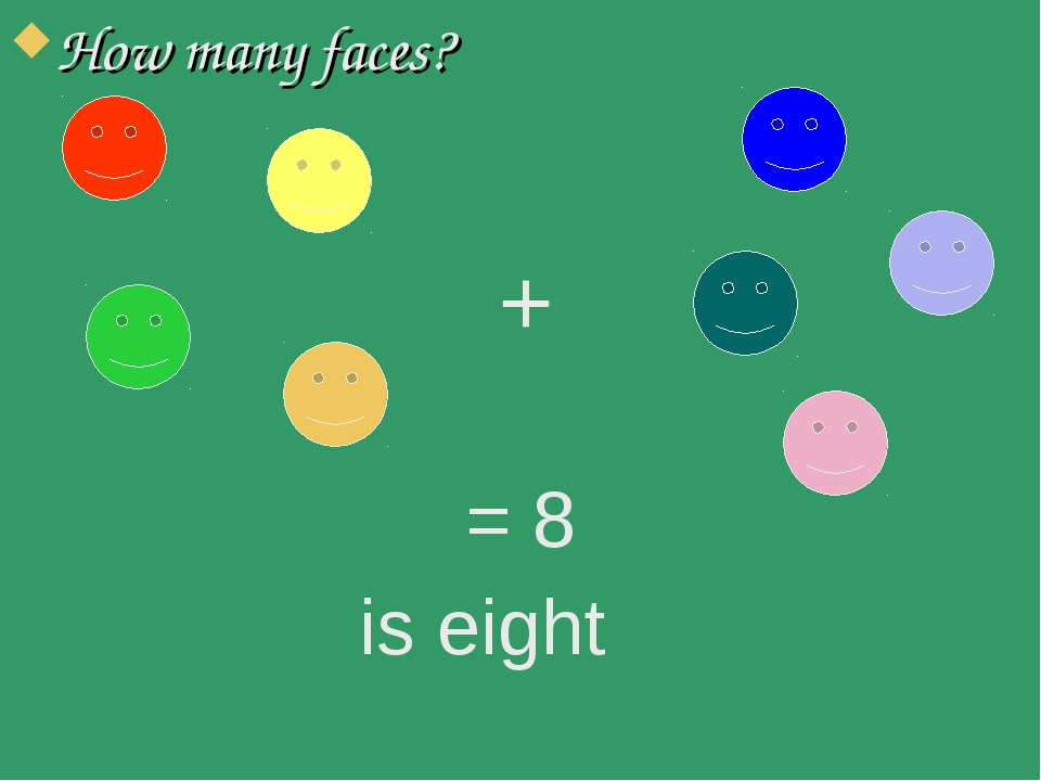 How many faces? = 8 is eight +