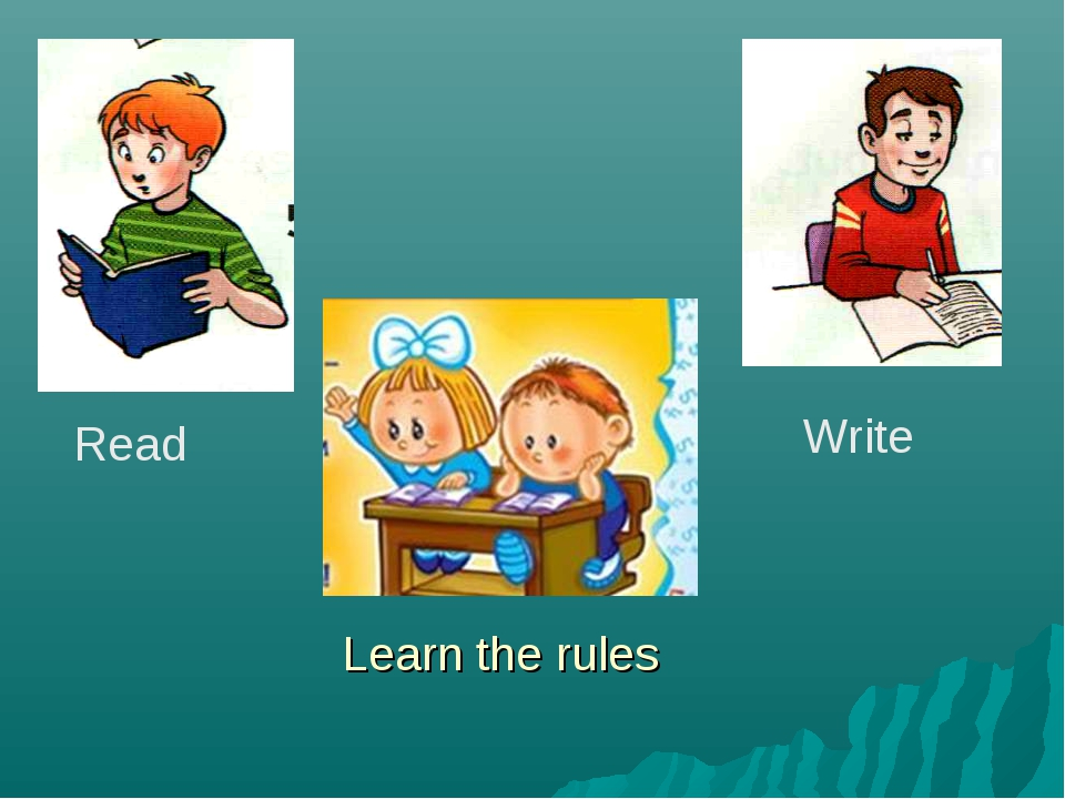 Read Write Learn the rules