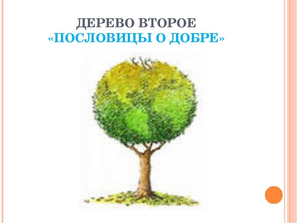 ДЕРЕВО ВТОРОЕ «ПОСЛОВИЦЫ О ДОБРЕ»