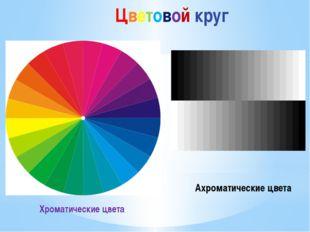 Хроматические цвета Ахроматические цвета Цветовой круг