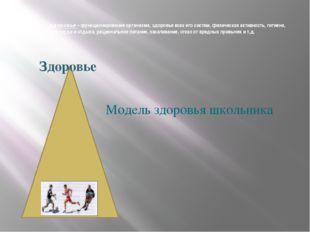 Физическое здоровье – функционирование организма, здоровье всех его систем,