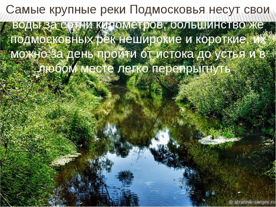 Самые крупные реки Подмосковья несут свои воды за сотни километров, большинст...