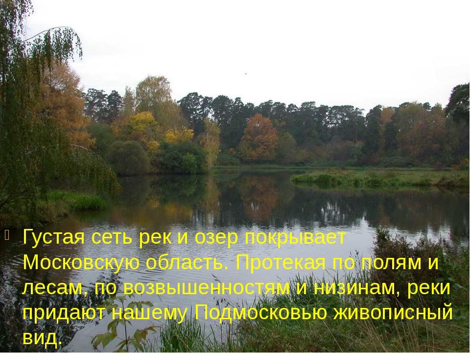 Густая сеть рек и озер покрывает Московскую область. Протекая по полям и леса...