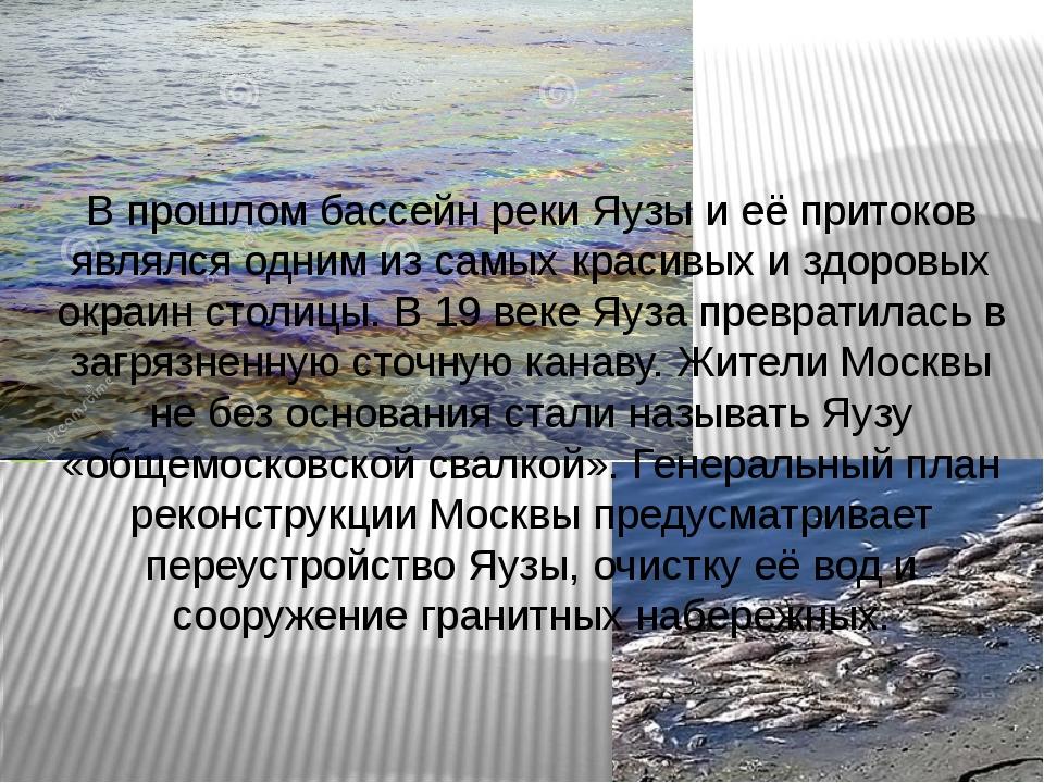 В прошлом бассейн реки Яузы и её притоков являлся одним из самых красивых и з...