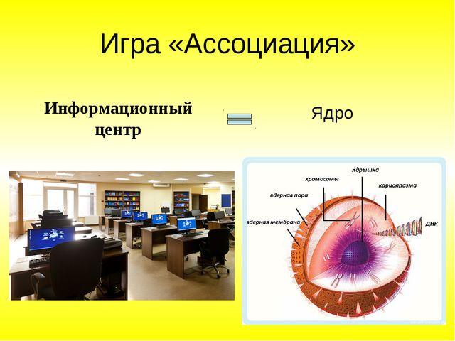 Игра «Ассоциация» Информационный центр Ядро