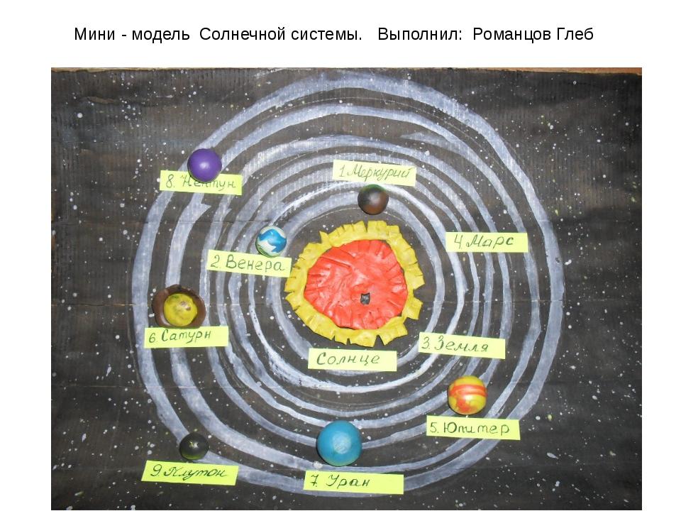 Мини - модель Солнечной системы. Выполнил: Романцов Глеб