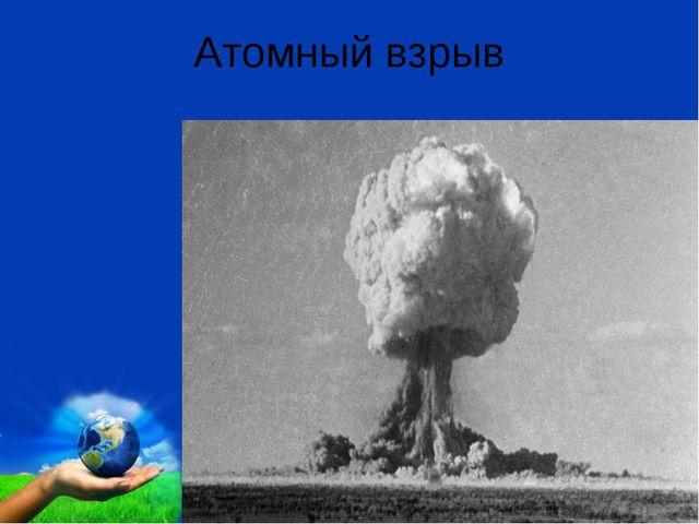 Атомный взрыв Free Powerpoint Templates Page *