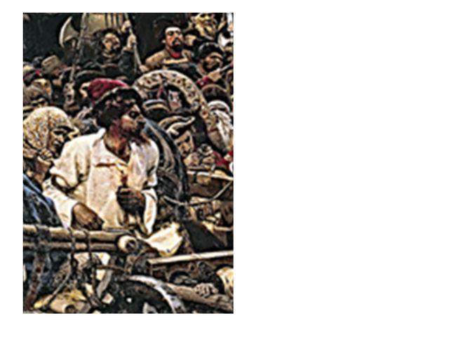 Образ рыжебородого стрельца Суриков долго искал. «Рыжий стрелец это могильщик...