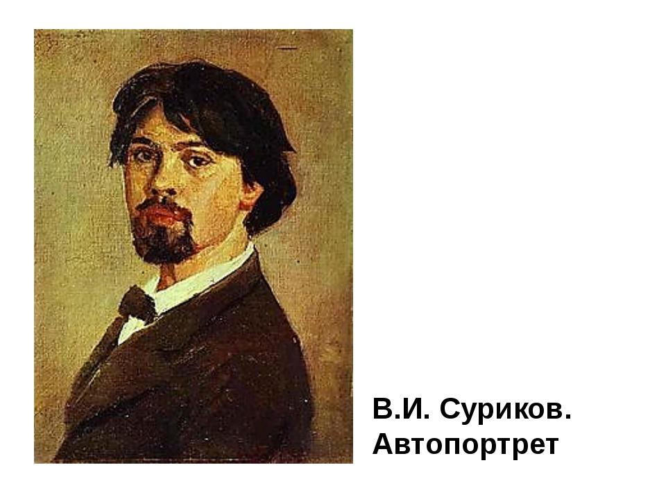 В.И. Суриков. Автопортрет Василий Иванович Суриков - один из наиболее ярких п...