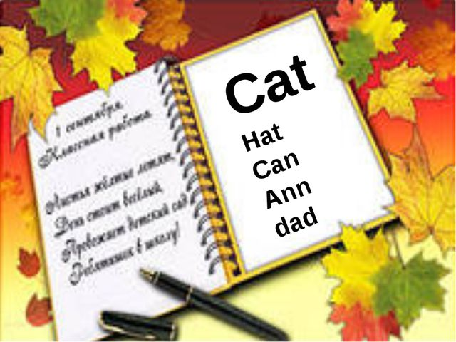 Cat Hat Can Ann dad