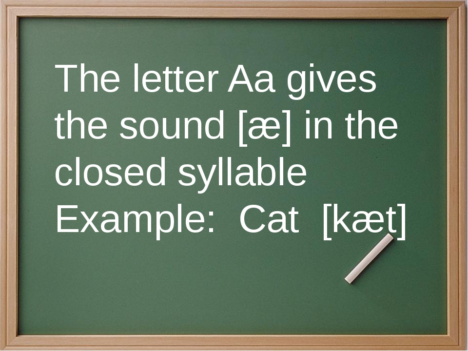 The closed syllables end in a consonant. The vowel sound is usually short. E...