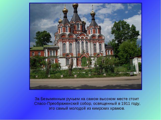 За Безымянным ручьем на самом высоком месте стоит Спасо-Преображенский собор,...