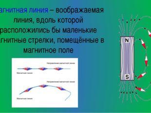 Магнитная линия – воображаемая линия, вдоль которой расположились бы маленьки