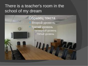 There is a teacher's room in the school of my dream