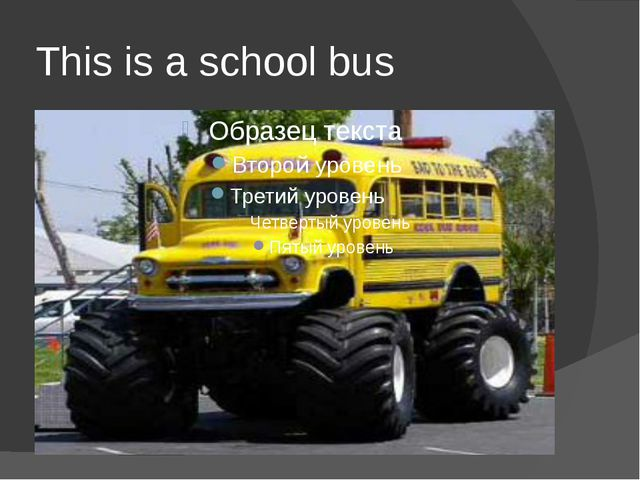 This is a school bus