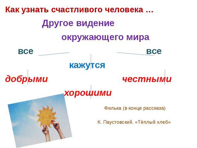 Как узнать счастливого человека … Другое видение окружающего мира все все каж...