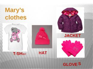 Mary's clothes JACKET HAT GLOVE T-SHIRT S