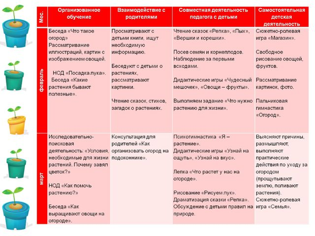 Реализация проекта (февраль – март)