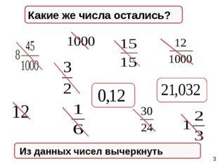 Натуральные числа Из данных чисел вычеркнуть Правильные дроби Неправильные д